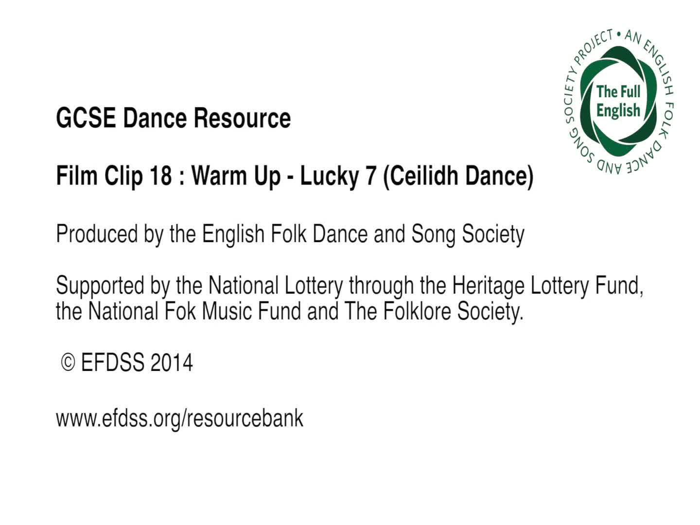 Film Clip 18: Lucky 7 (Ceilidh Dance)
