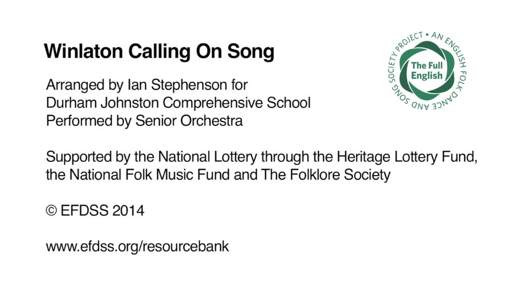 Winlaton Calling on Song - Durham Johnston Comprehensive School