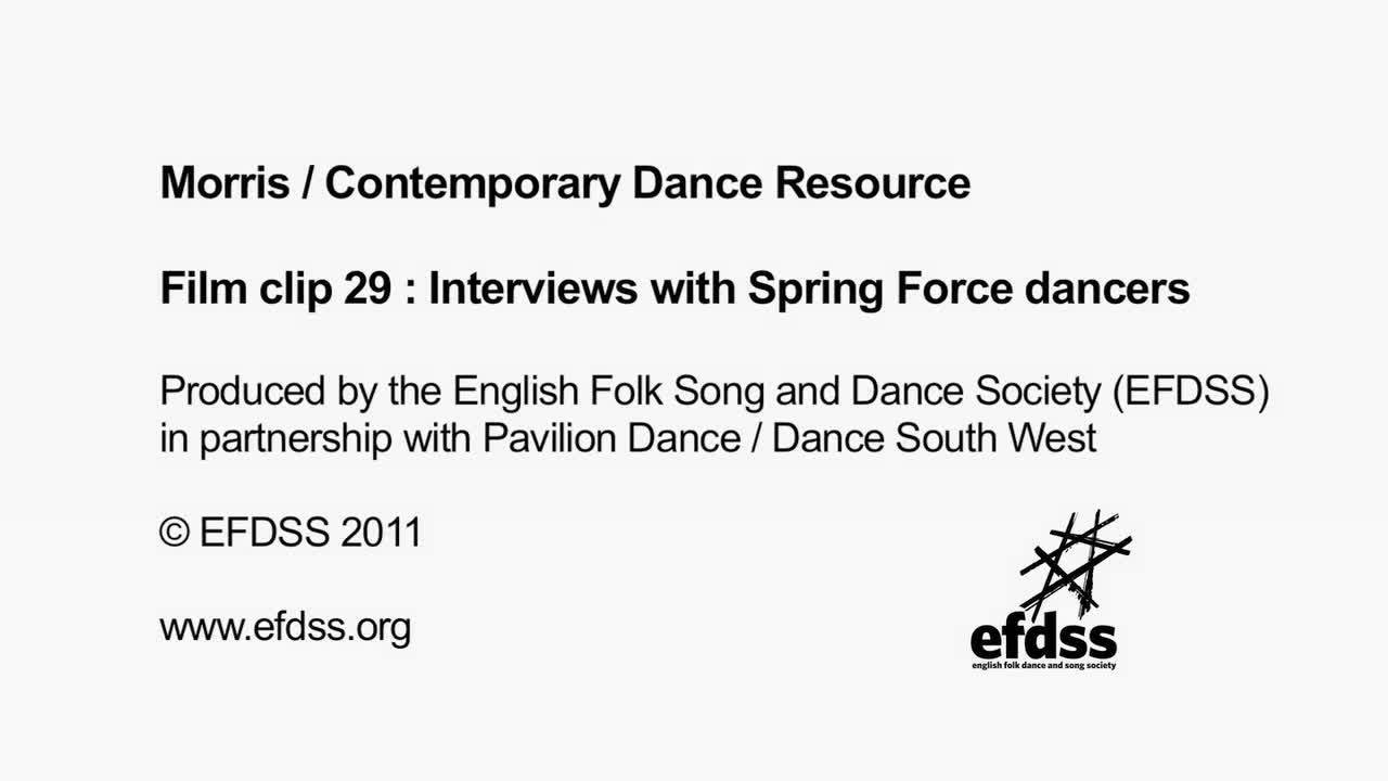 Film 29: Interviews with Spring Force dancers
